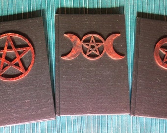 Book of Shadows Copper color on Black 5x7 80 lines pages