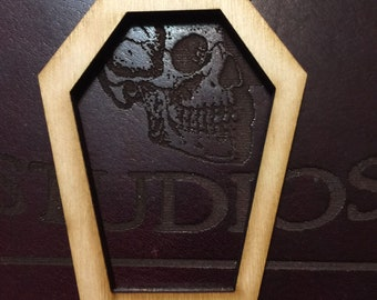 Cutout coffin shapes 3- 1/4 x 2-1/2 inch size, 1/4 inch nominal thickness 24 pcs