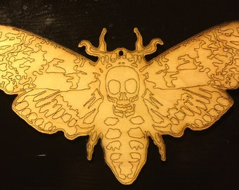 Death's-head hawkmoth cutout - laser cut - made in Illinois