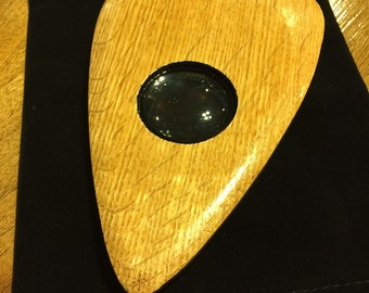 Finished Quarter Sawn Oak Wood Ouija Board Planchette - Ouija board pointer with Glass eye No. 1