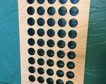DIY 50 1oz  kit TATTOO INK wall rack - Holds 50 1 oz ink bottles- Assemble yourself