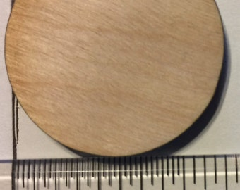 100 pcs Laser Cut Birch Plywood wood Circles  3/16th thickness 1-1/4 inch diameter 1.25 inch