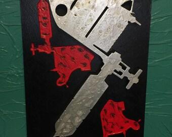 TATTOO MACHINE sign - Wood laser cut 12x20