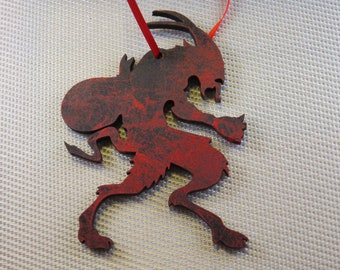 KRAMPUS 4 in tall silhouette wood Ornament