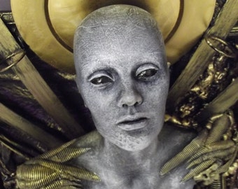 Gustation of thought - Dimensional sculpture by Tomasz W Klymiuk  HR Giger inspired