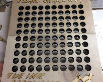 Large TATTOO INK wall rack-Holds 100 ink bottles-