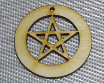 12-24-48 pcs Pentacle Earring Findings -Ornament - Pendant -Laser cut pentacle design