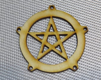 12-24-48 pcs Pentacle Sigil -Ornament - Pendant -Laser cut pentacle design