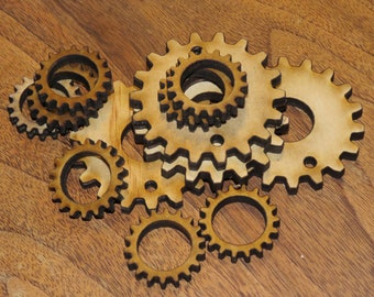 4 sets of Laser cut Wood Parts ONLY for Mini HAT TUBE Light -Steampunk Tube Kit
