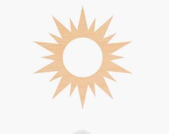 4 inch sun shape 12 pcs