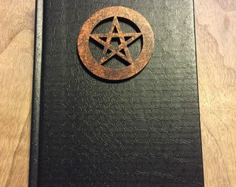LAST FEW Book of Shadows, COPPER color on Black 5x7 80 lined pages