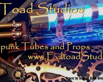 Light Up Core Steampunk Tube - Tesla Tube- 9vdc powered-Brass-Copper-Silver