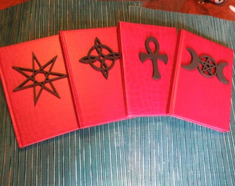 Book of Shadows Black on Red 5x7 80 lines pages