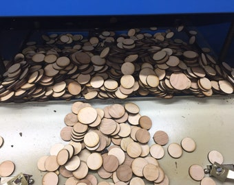 1 LB Laser Cut Birch Plywood wood Circles  3/16th thickness various diameters ranging from  10mm to 42mm plus