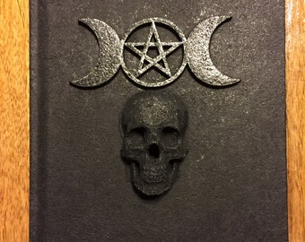 ONLY ONE Book of Shadows Black 5x7 80 lined pages triple goddess and skull