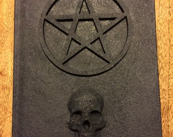 ONLY ONE Book of Shadows Black 5x7 80 lined pages pentagram and skull