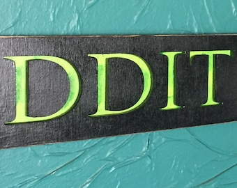 Cut our Green ODDITIES sign - laser cut wood sign