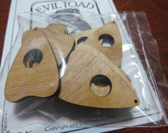 24 pcs Small Ouija Planchette 1.5 in long 1/8in or 1/4in thickness
