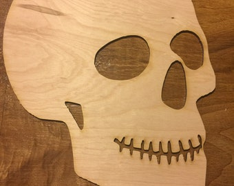 Paint Panel 1pc Giant 15 inch 3/4 view Human Skull