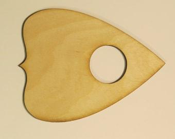 1 pc Giant VER2 Blank Wood Ouija Planchette
