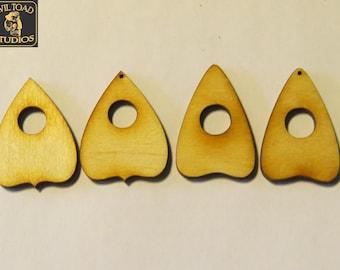 24-48 pcs Small Ouija Planchette 1.5 in long 1/8in