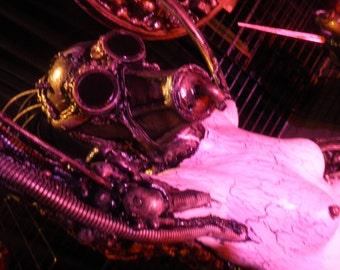 Biomechanical Steampunk Dimensional sculpture
