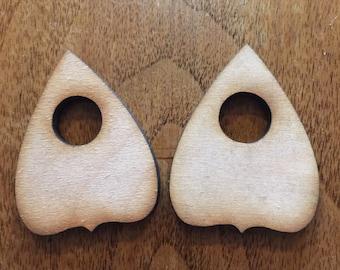 10 Pack Craft VER2  Blank Wood Ouija Board Planchette