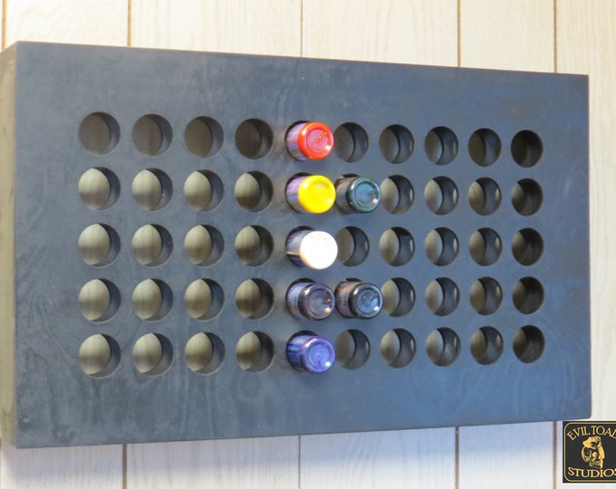 Featured listing image: 60 Tattoo Ink wall rack Holds 60 2 oz ink bottles- 19.5x 11.5 inches