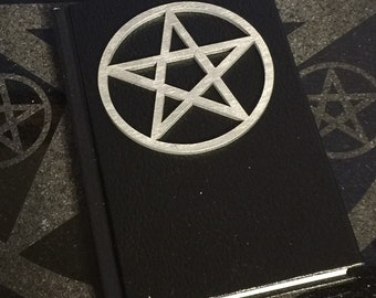 Book of Shadows - Silver color on Black 4 x 6 in - 110 blank unlined pages