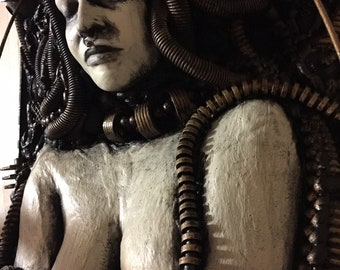 Biomechanical Medusa Original Wall sculpture by TW Klymiuk HR Giger inspired