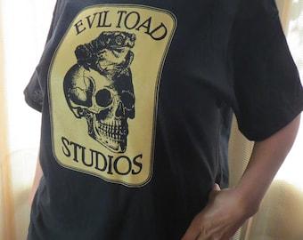 EvilToad Studios Logo T Shirt 100% cotton Gildan Heavy Cotton