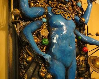 Steampunk Kali Dimensional sculpture by Tomasz W Klymiuk  HR Giger inspired