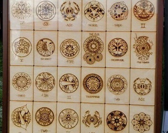PROFESSIONAL  Full Size Wood Tarot 78 card set with case