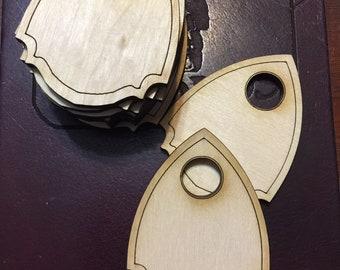 10 Pack MINI VER4 Blank Wood Ouija Board Planchette