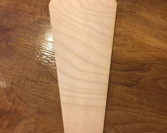 Paint Panel 6 pc COFFIN 6 inch Blank Wood