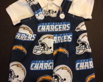 San Diego Chargers Baby Infant Toddler Boys Jumper Romper Overalls   You Pick Size