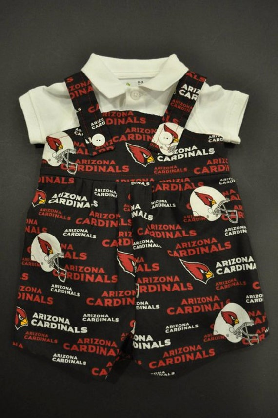 newest 5a3ce ed156 Arizona Cardinals Baby Infant Toddler Boys Jumper Romper Overalls You Pick  Size