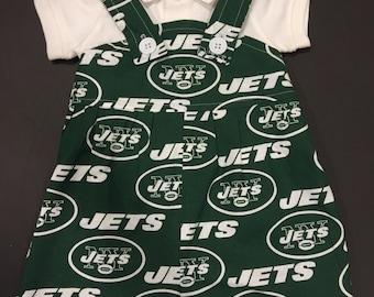 NFL New York Jets Baby Infant Toddler Boys Jumper Romper Overalls   You Pick Size