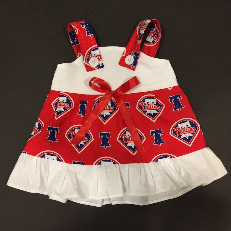 MLB Philadelphia Phillies Baby Infant Toddler Girls Dress *YOU PICK SIZE*