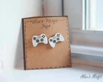 Xbox 360 Controller Inspired Post Earrings