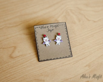 Moogle Inspired Earrings