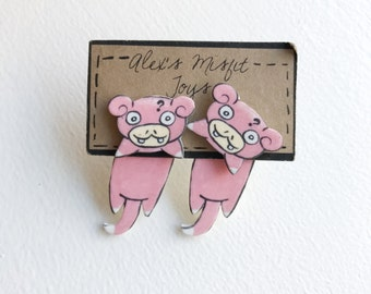 Kawaii Slowpoke Fake Gauge Clinging Earrings