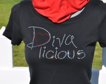 Rhinestone Diva licious Bling T-Shirt