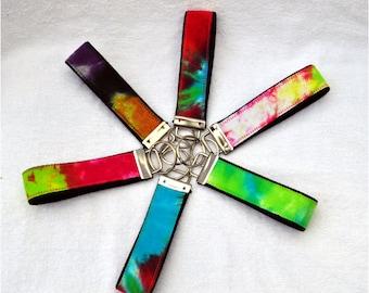 Tie Dye fabric Key FOB Key Chain