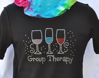 Rhinestone Group Therapy Bling T-Shirt