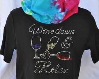 Rhinestone Bling..Wine Down and Relax