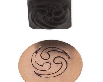 DESIGN STAMP- Triple WAVE - Elite Jumbo 10mm - Create Charms, Decorate Necklaces Bracelets Earrings Metal Stamping