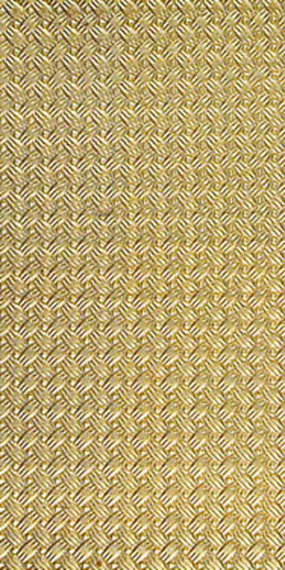 Jewelry Metal Emboss Metal Textured Brass Sheet 6 X 2.5 Br14 24 Gauge Large Bracelet Size Texture Metal Use With Your Rolling Mill
