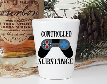 Funny Shot Glass Gamer Gift Game ControllerGamer Glass21st Birthday For Boyfriend GlassGaming Gifts Guys