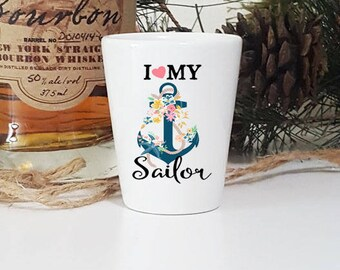 Gifts For Girlfriend Anchor Shot Glass Birthday Gift Sailing Sailor Military Glasses